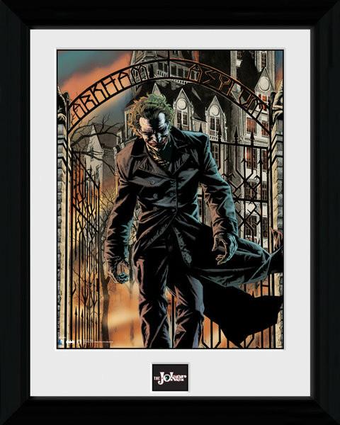 bestel een batman comic arkham asylum ingelijste poster op. Black Bedroom Furniture Sets. Home Design Ideas