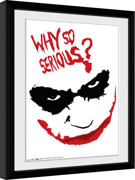 Batman The Dark Knight - Smile ingelijste poster met glas