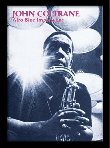 JOHN COLTRANE - afro blue impressions ingelijste poster met glas