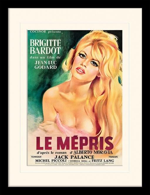 LE MÉPRIS - brigette bardot ingelijste poster met glas