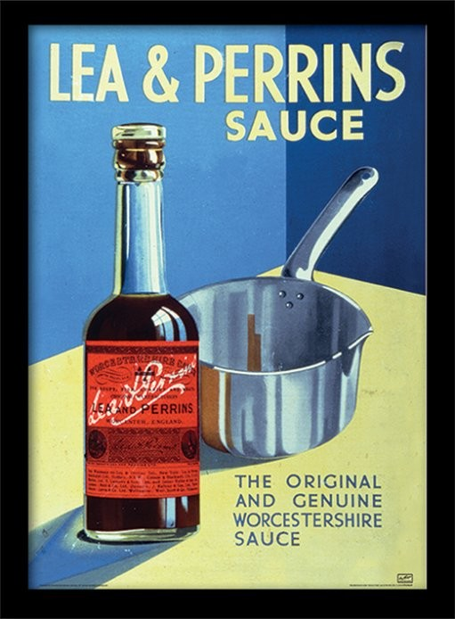 Lea & Perrins - The Original Worcester Sauce ingelijste poster met glas