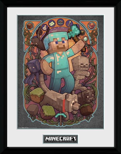 Minecraft - Steve Nouveau Ingelijste poster