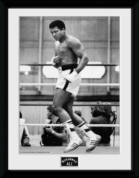 Muhammad Ali – Training 30x40cm Collector Print ingelijste poster met glas