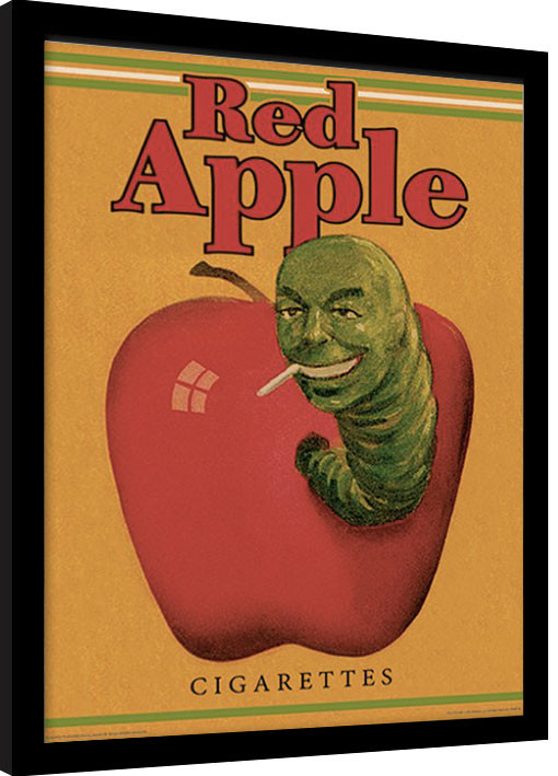 Ingelijste poster PULP FICTION - red apple cigarettes