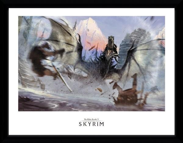 Skyrim - Alduin Ingelijste poster