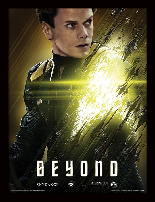 Star Trek Beyond - Chekov ingelijste poster met glas