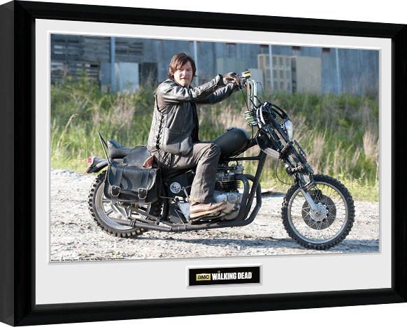 Ingelijste poster THE WALKING DEAD - Daryl Bike