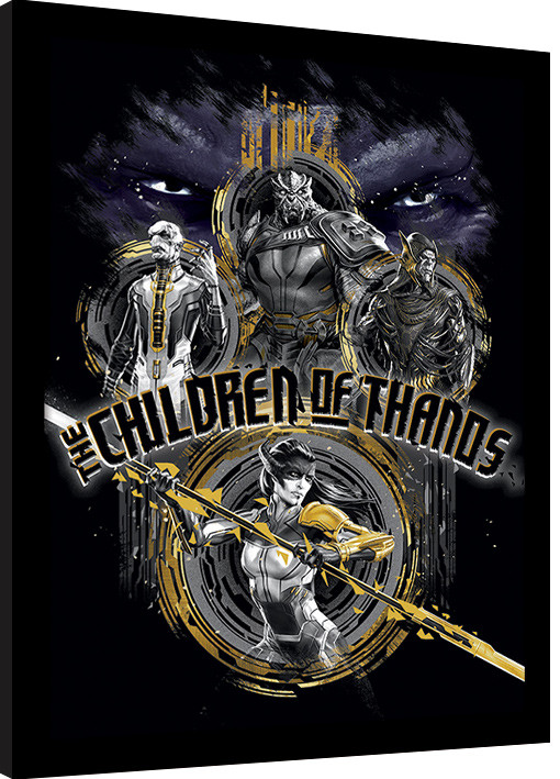 Avengers Infinity War Children Of Thanos Stencil Innrammet Plakat Kjøp Hos Europostersno
