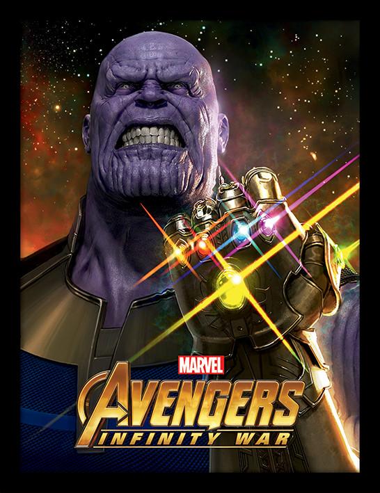 Avengers Infinity War Infinity Gauntlet Power Innrammet Plakat