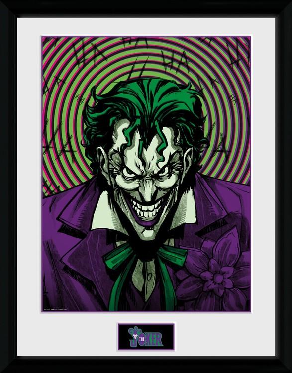 Dc Comics Joker Insane Innrammet Plakat Kjøp Hos Europostersno