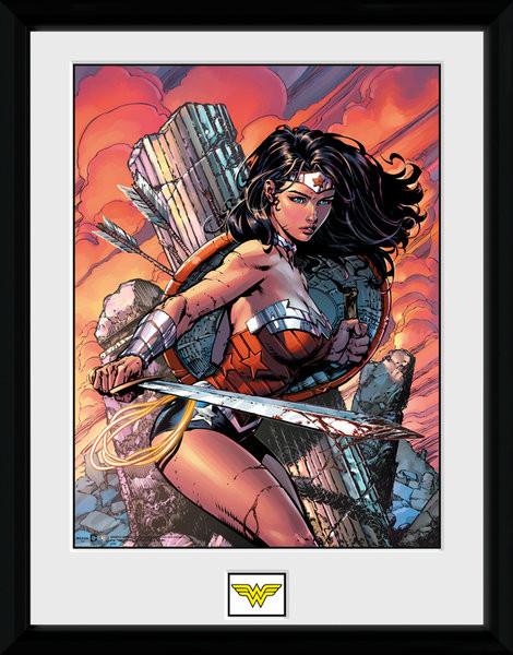 Dc Comics Wonder Woman Sword Innrammet Plakat