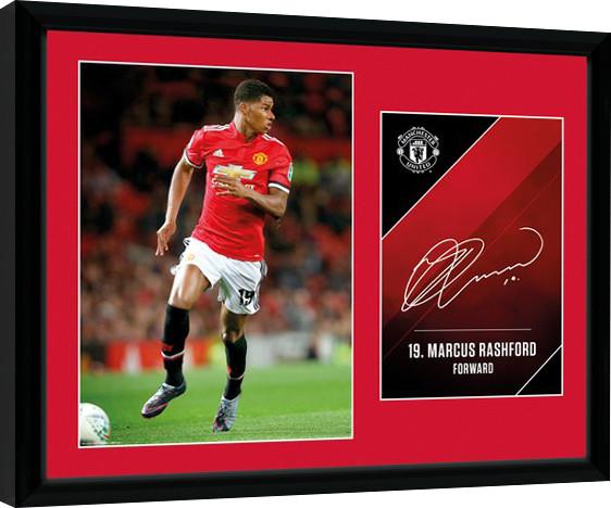 60801482 Manchester United - Rashford 17/18 Innrammet plakat | Kjøp hos ...