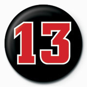 13 NUMBER Insignă