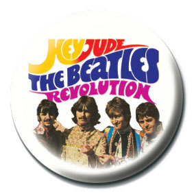 BEATLES - Hey Jude/Revolution Insignă