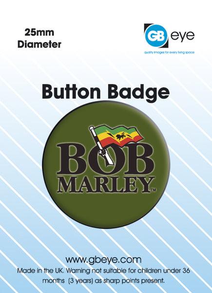 BOB MARLEY - logo Insignă