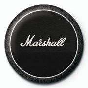 MARSHALL - black amp Insignă