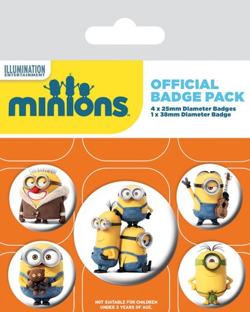 Set insigne Minions - Characters
