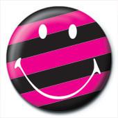 SMILEY - stripy Insignă