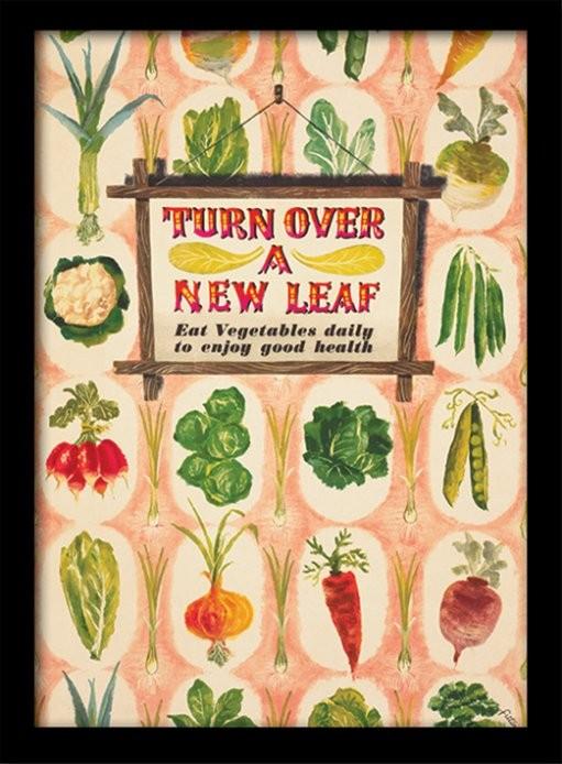 IWM - Turn Over A New Leaf Tablou Înrămat cu Geam