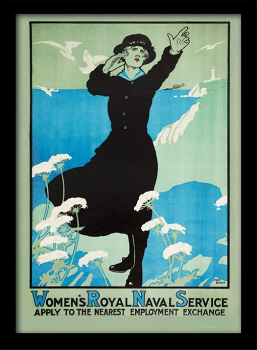 IWM - Womens Royal Navy üveg keretes plakát