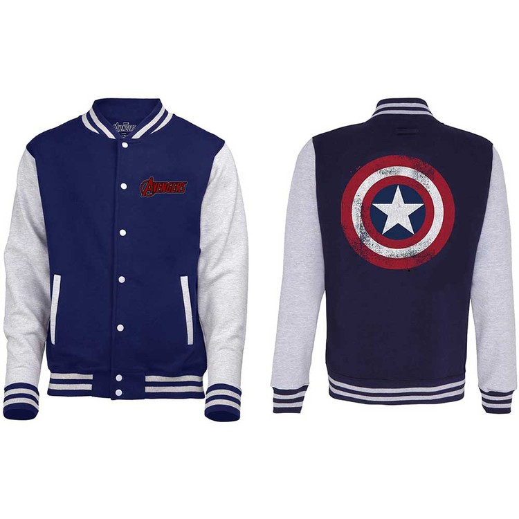 Avengers - Assemble Distressed Shield Varsity Jachetă