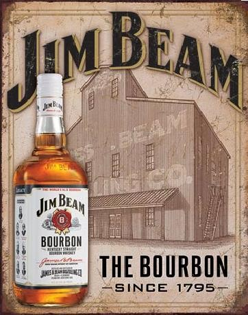JIM BEAM - Still House Metalen Wandplaat