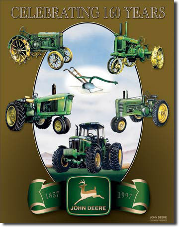 JOHN DEERE COLLAGE Metalplanche