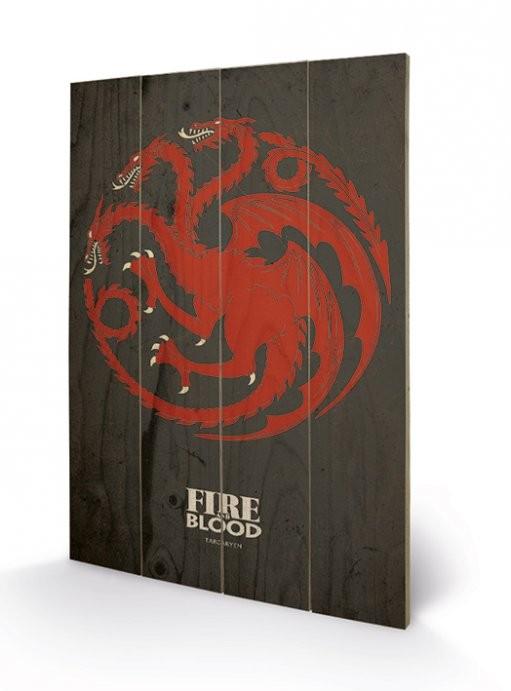 Art en tabla Juego de Tronos - Game of Thrones - Targaryen