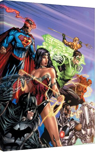 Bilden på canvas Justice League - Readz For Action