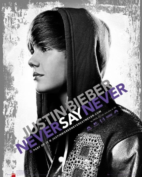 Justin Bieber - never say - плакат (poster)