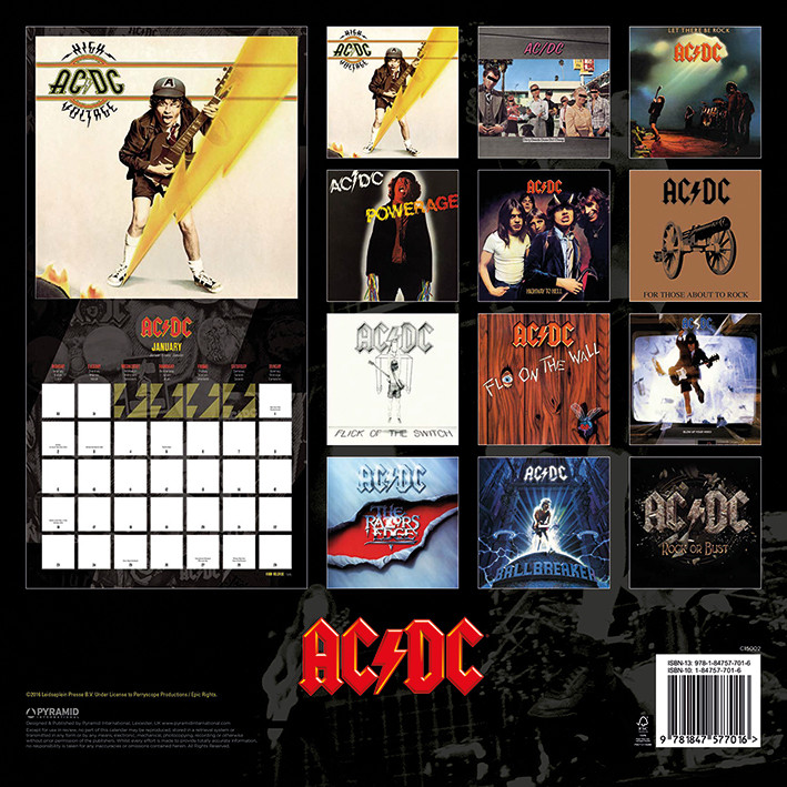 Kalendár 2018  AC/DC