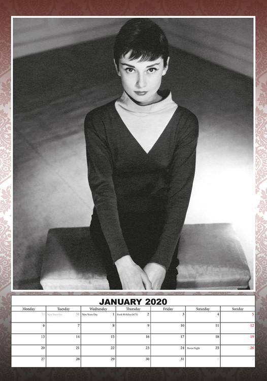 Kalendář 2020  Audrey Hepburn