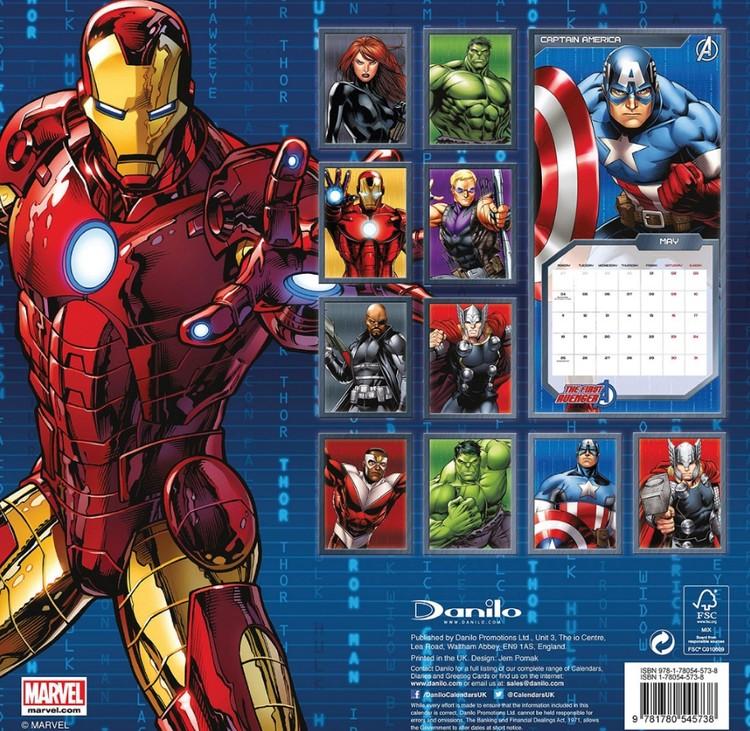 Calendario Ironman 2020.Kalendar 2020 Avengers