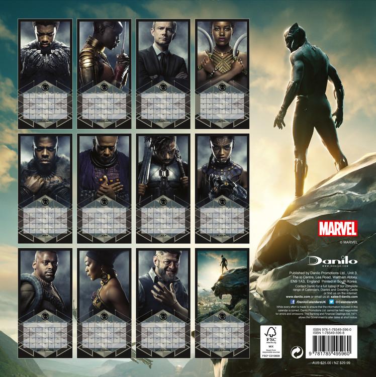 Kalendář 2019  Black Panther