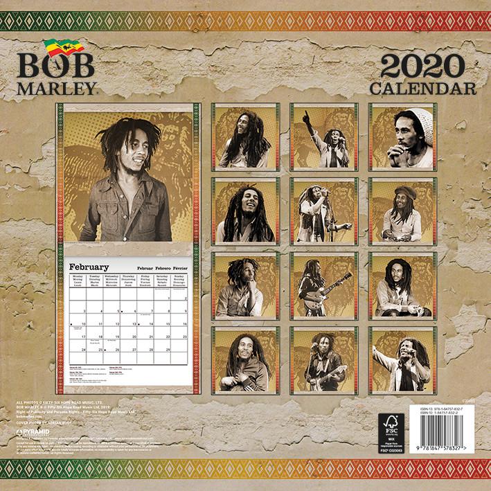 Kalendář 2020  Bob Marley