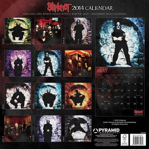 Kalendár 2019  Calendar 2014 - SLIPKNOT