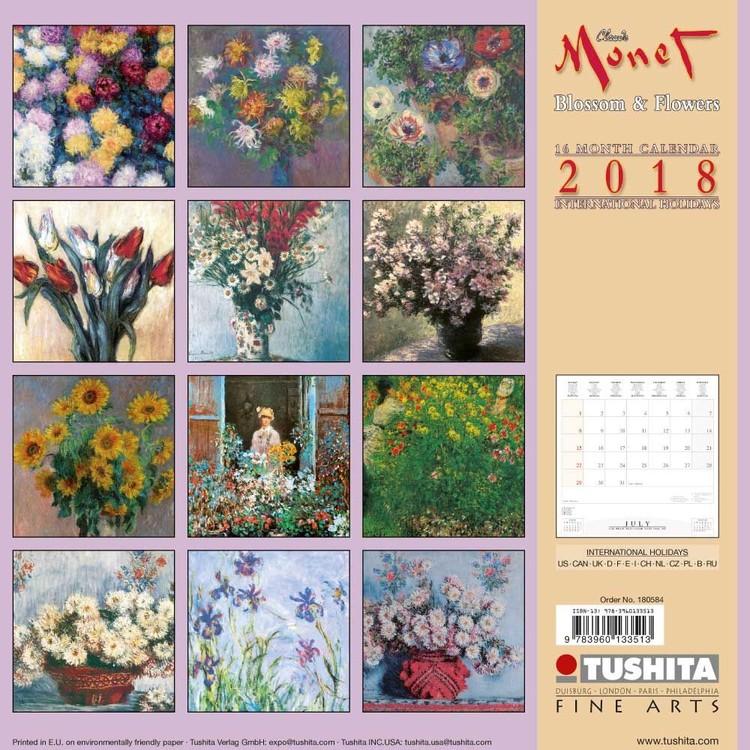 Kalendář 2018  Claude Monet - Blossoms & Flowers