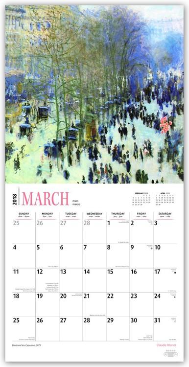 Kalendář 2018  Claude Monet