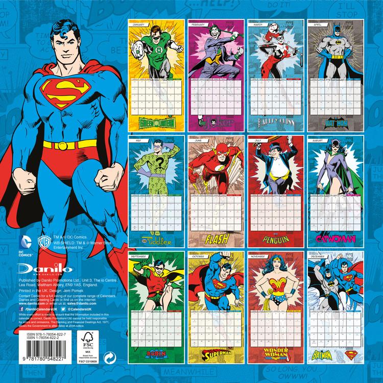 Kalendář 2018  DC Comics