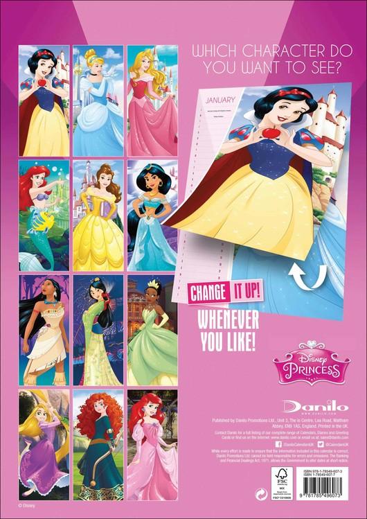Kalendář 2019  Disney Princezny