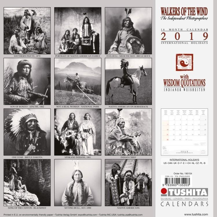 Kalendář 2020  Indiáni - Walkers of the Wind