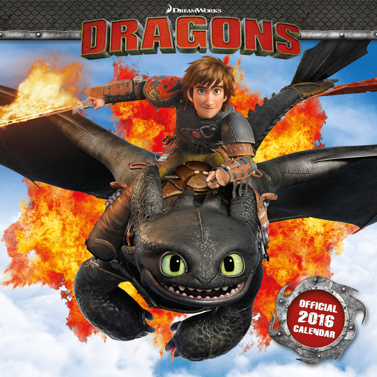 Kalendář 2017 Jak vycvičit draka 2