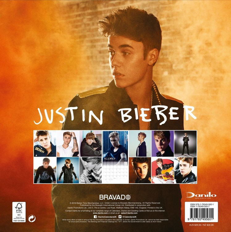 Kalendář 2020  Justin Bieber