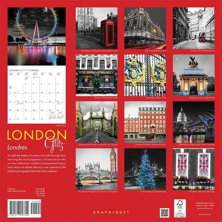 Kalendář 2019  Londýn - Glitz