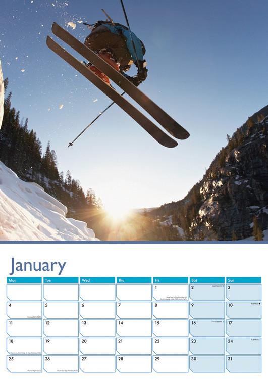 Kalendár 2018  Lyžovanie