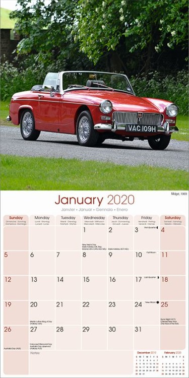 Kalendář 2020 MG