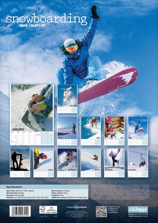 Kalendár 2018 Snowboarding