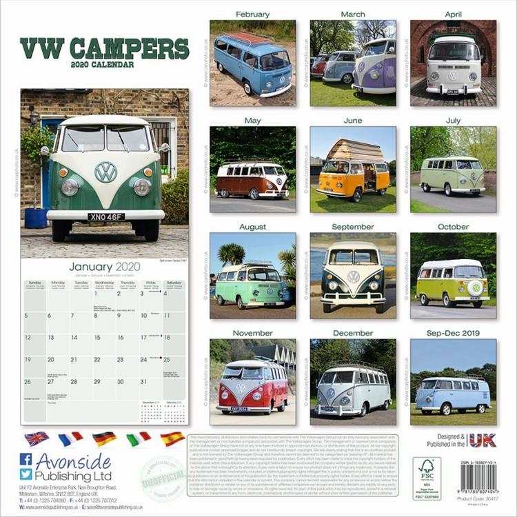 Kalendář 2020  VW Camper Vans