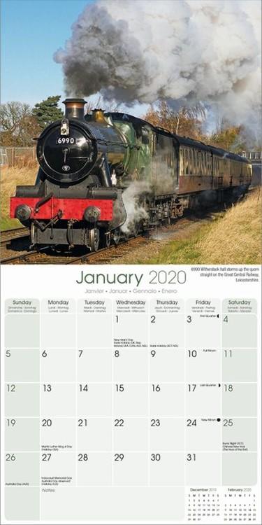 Steam Trains Kalendar 2020