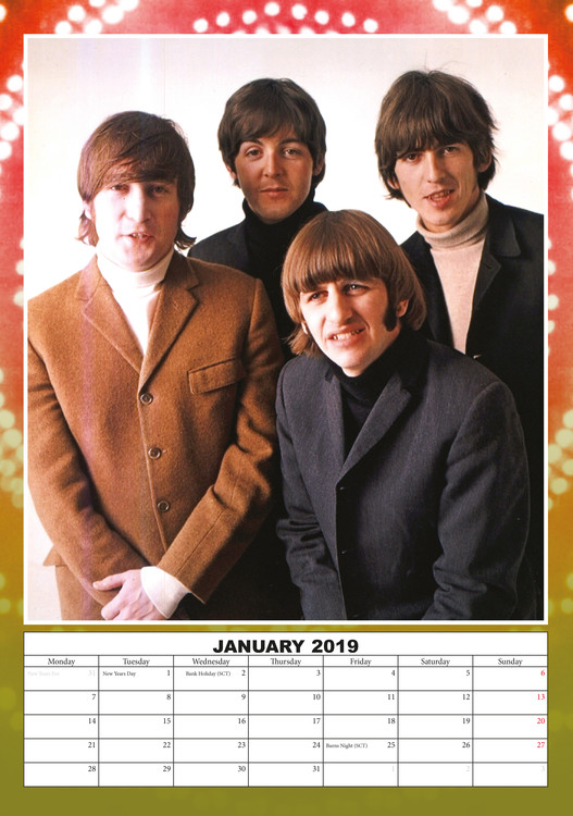The Beatles Kalendar 2019